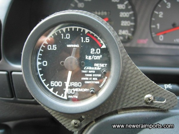 Greddy electronic boost gauge.