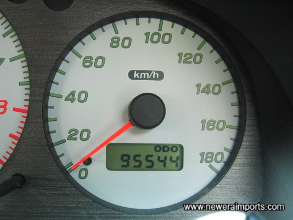 Odometer shown km before recalibration to miles in UK.