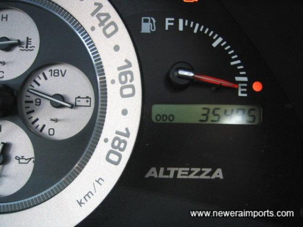 Odometer shows kilometres since change documentated at 28,381km. Miles in UK will be a covnersion of TOTAL kilometres.