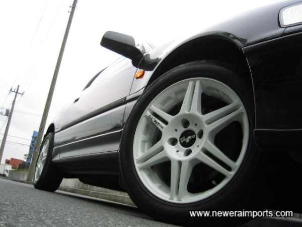 Sparco wheels are in excellent condition.