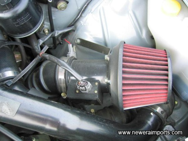 Apexi Dual Funnel air cleaner kit.