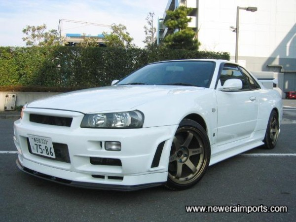One of the best low mileage R34 GT-R V-Spec's we've had yet.