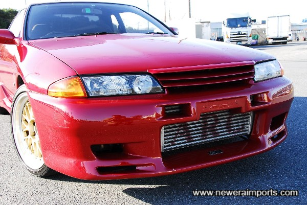 ARC intercooler & vents in TBO bumper. Also note Nismo bonnet lip.