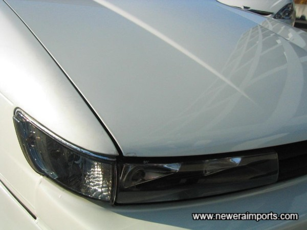 Crystal headlight conversion with Crystal side markers (New matching ones will come with this car).