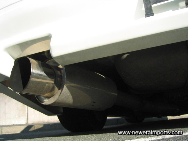 Uprated Uras Type SS stainless steel exhaust system.
