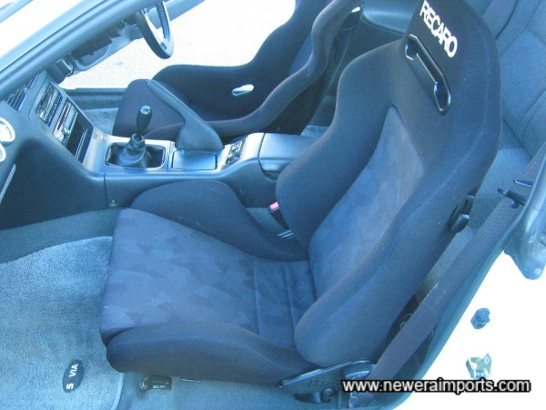 Reclinable Recaro, to enable rear seat occupants...