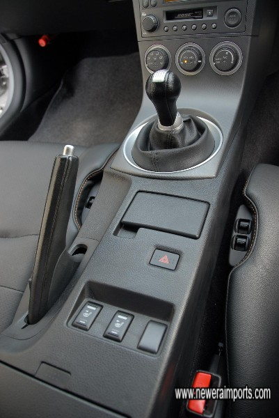 Heated seat switches on centre console.