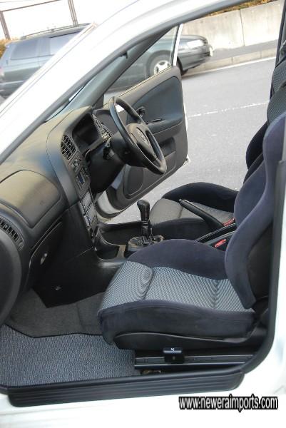 Interior trim is in excellent condition.