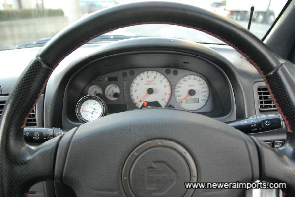 Original SRS Momo steering wheel.