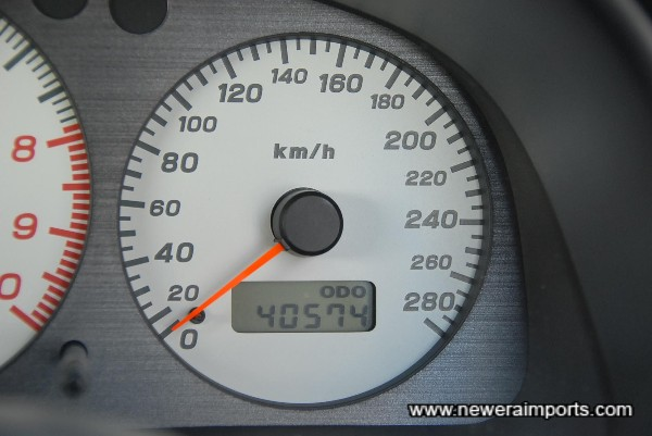 Total kms = 71,196km. Will show 47,977 miles after conversion in UK.