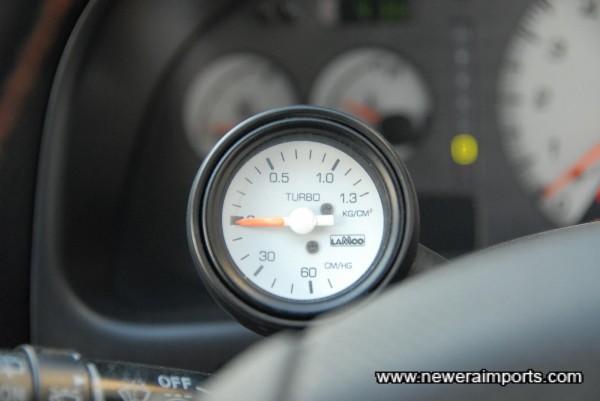 Original option boost gauge fitted.