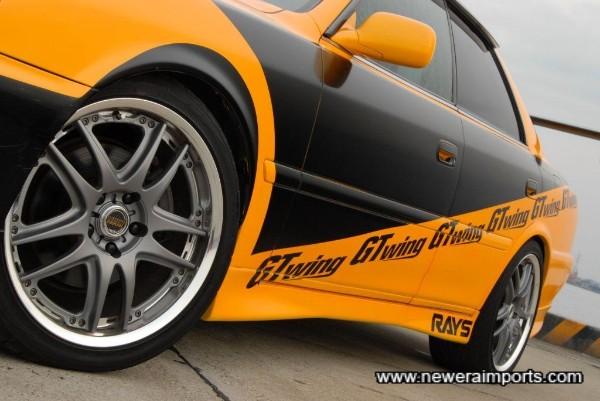 Volk Racing GT-V 18'' Lightweight Forged Alloy Wheels.
