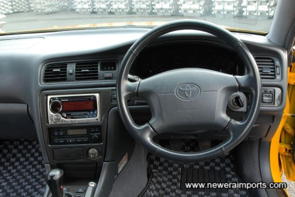 Full carbon fibre trim on dashboard.