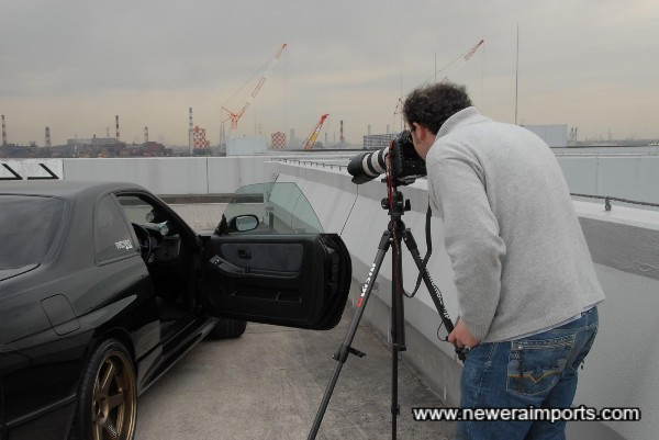 Dino Dalle Carbonare - Shooting the car for Turbo (U.S.A) Magazine and others.