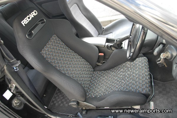 Recaro Driver's seat offers a lot more support than std. items for track use, etc.