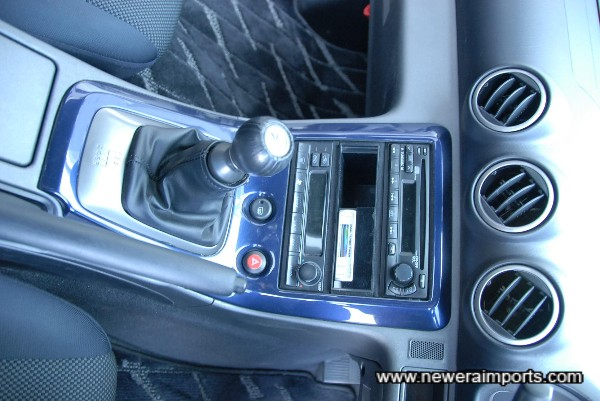 Original option blue interior trim. We can have these professionally re-finished as carbon look trim, inexpensively.