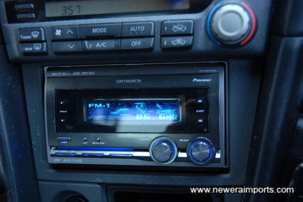Carrozzeria MOS FET 50W x 4 Audio & Uprated speakers.