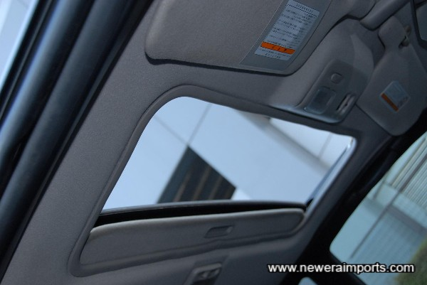 Original option electric glass sunroof fitted.