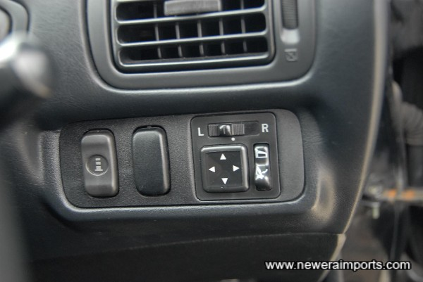 Remote controls for parking indicator & electric mirrors and retract mode.