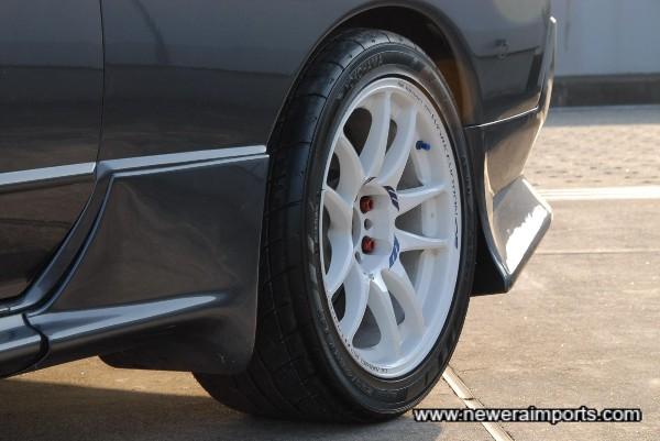 Work Emotion R 17'' Wheels fitted with near new Yokohama Advan Neuva sports tyres.
