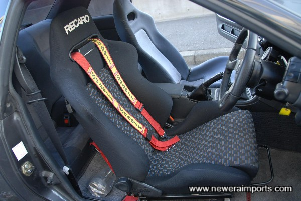 Genuine Recaro - FIA approved for track use.
