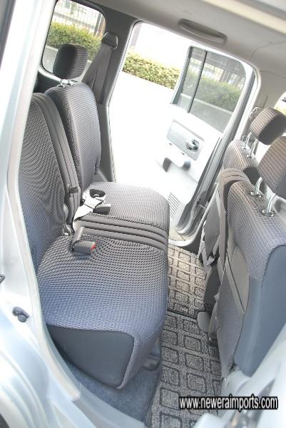 Plenty of legroom for rear passengers.