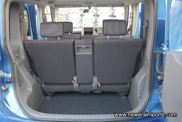 Rear seats fold to make same space as some small vans. Ideal for small business owners.