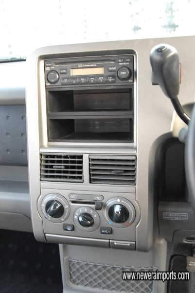 CD player & air conditioning.