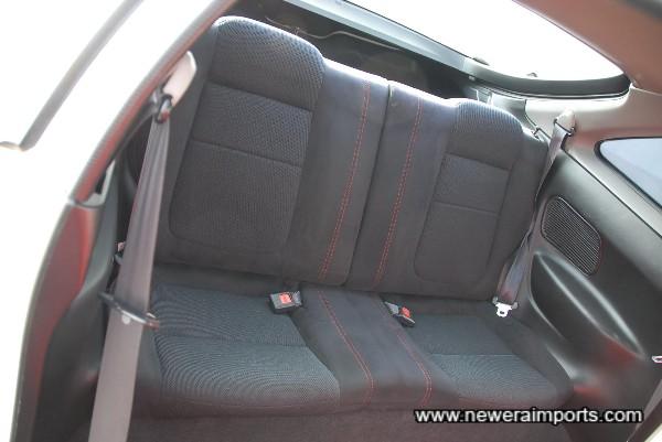 Rear seat also in pristine condition.