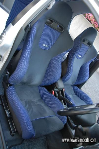Driver's seat unworn.