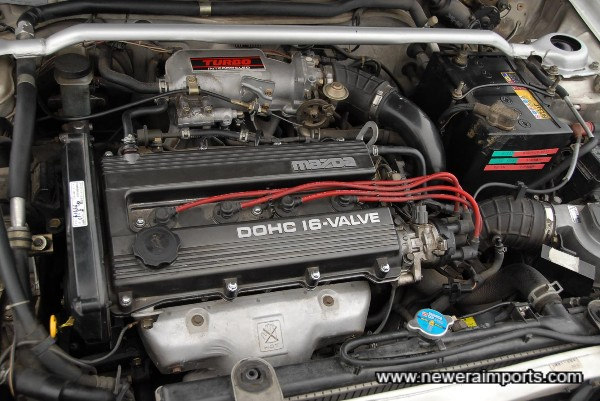 Engine bay, tidy and well presented.
