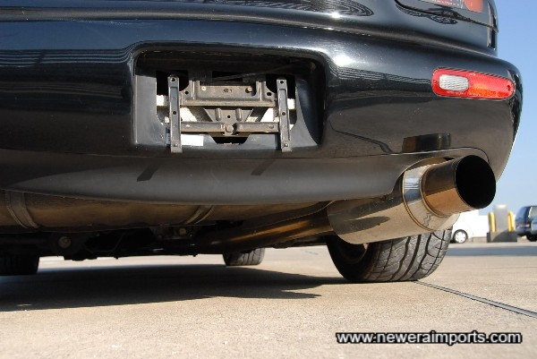 Apexi PS Revulution high flow stainless steel exhaust.