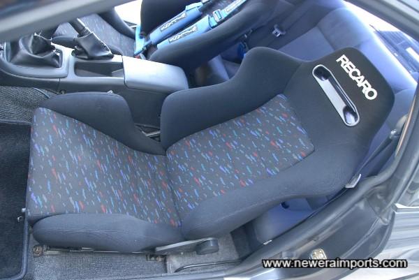 Recaro Reclinable Passenger seat.