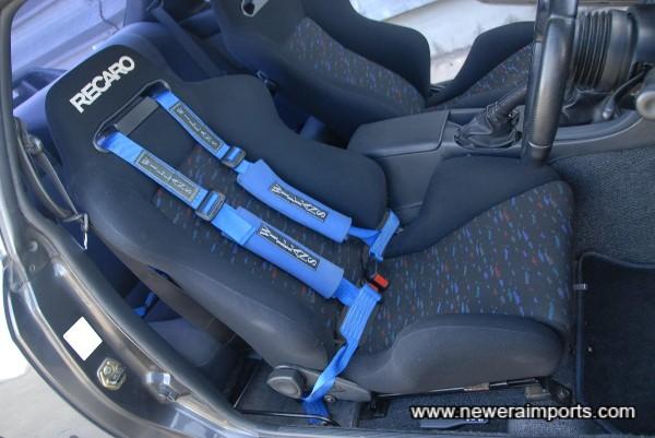 Recaro Reclinable Driver's seat.