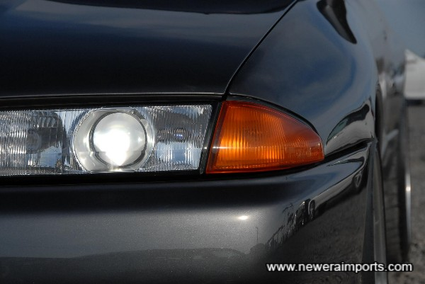 HID main beam headlights.
