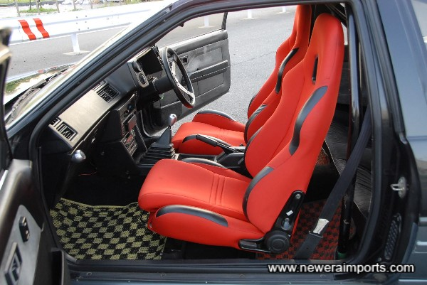 Sports seats are reclinable.