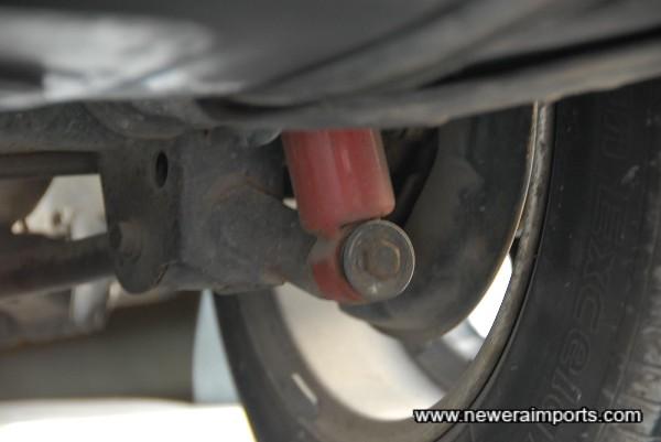 Tokiko damping adjustable suspension.