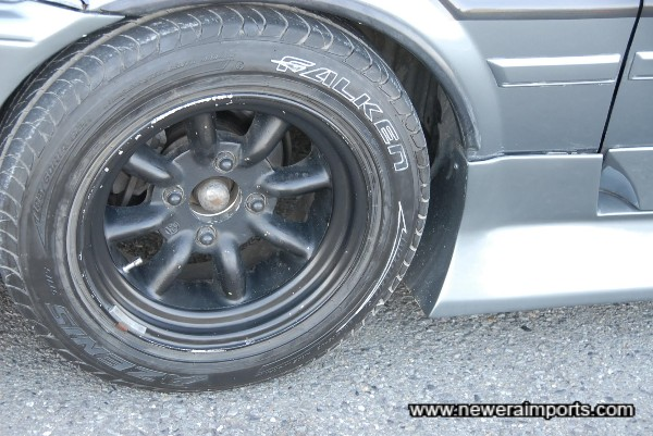 Highly sought after Racing Service Watanabe Wheels!