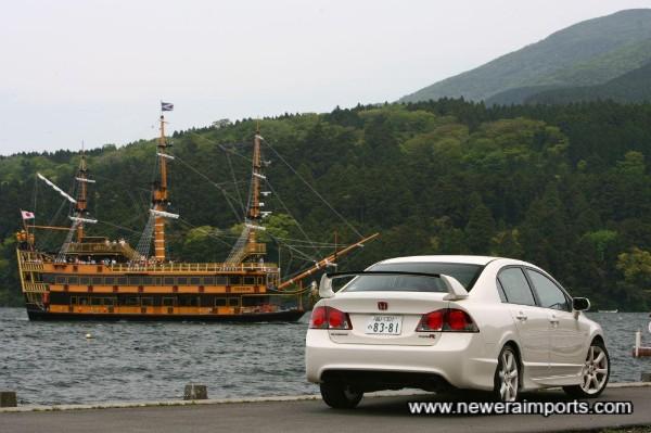 Photographed at Fuji's Lake Ashinoko.
