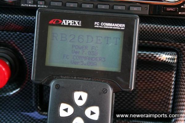 Apexi Power FC ECU with commander.