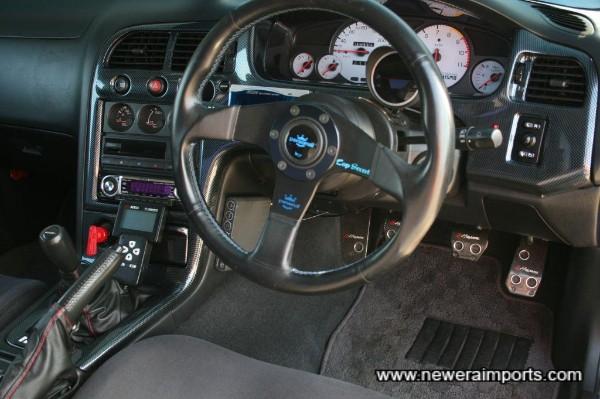 Momo Race Steering wheel. Nismo Dashboard Gauges fitted.