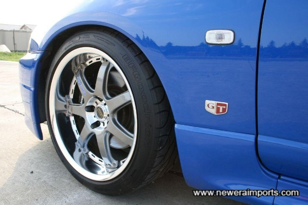 18 x 10J Volk Racing GT-7 wheels in stunning condition!