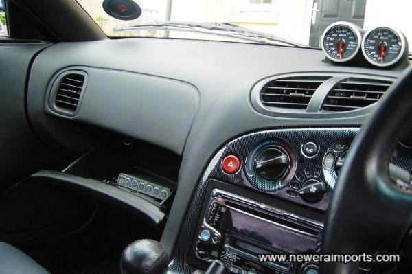 Mazdaspeed Carbon look dash panels.