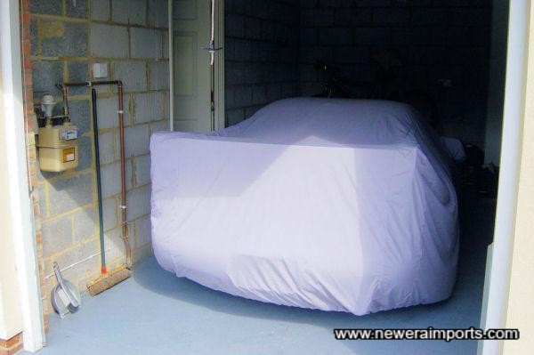 Fitted car cover.