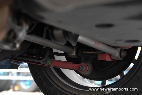 Sti Spec C Type RA suspension components.