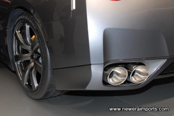 ABS Plastic bumpers are flexible and resist stone chip abrasions.