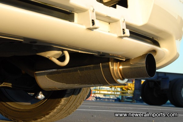 Fujitsubo Power Getter Performance Exhaust fitted.