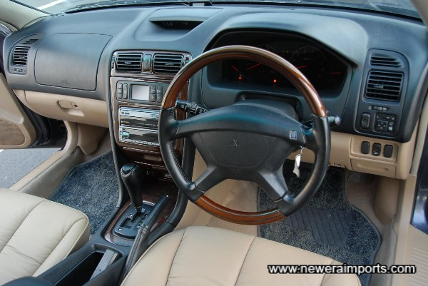 Nardi wood rimmed steering wheel.