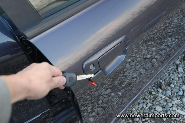 Remote centra locking is included in the key.