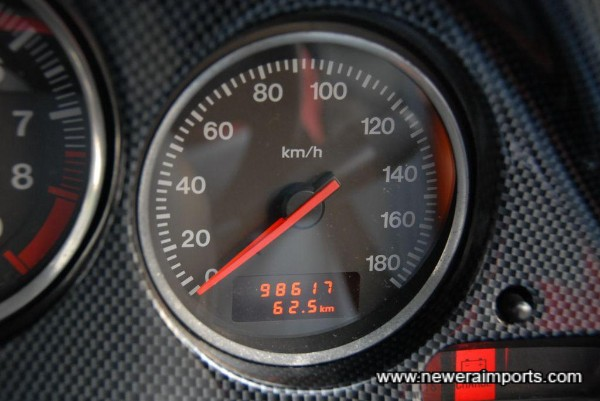 Original mileage - engine changed and car overhauled by Veilside 2000km ago.